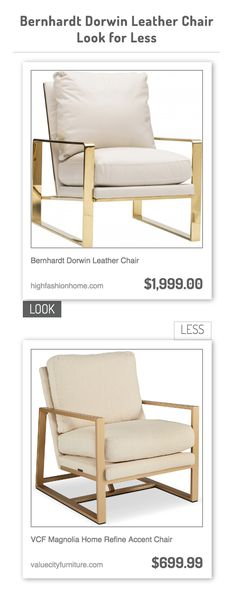 bernhardt dorwin leather chair vs vcf magnolia home refine accent chair