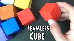 Having trouble? Try my slower tutorial here: https://youtu.be/_xZzu2QhgPo [Intermediate] How to fold a cube that does not have any creases or folds on any of...