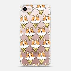 Casetify iPhone 7 Snap Case - Ice Cream Corgi by Mint Corner