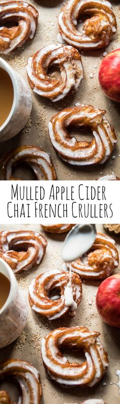 I mean, do I even have to say how good these sound? Donut Recipes, Apple Recipes, Fall Recipes, Cooking Recipes, Yummy Recipes, Apple Desserts, Just Desserts, Croissants, Breakfast Recipes