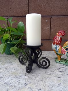 Home Decorating Taper Pillar Candle Holder Base Snuffer Home Decor Red Black