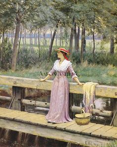 Waiting  Edmund Blair Leighton