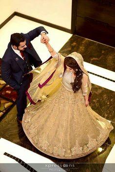 Lovely image by shaour fatima Bridal Mehndi Dresses, Wedding Dresses For Girls, Pakistani Wedding Dresses, Pakistani Bridal, Pakistani Wedding Photography, Wedding Photography Poses, Wedding Poses, Wedding Couples, Couple Photography