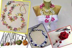 Encontrei estes lindos colares no facebook  crochet                      ...