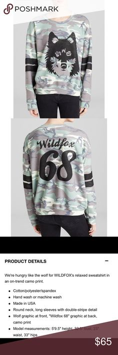 ✨Wildfox (limited edition)✨ Limited edition Wildfox oversized sweater in brand new condition. Please see photo for item description. Wildfox Sweaters
