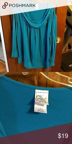 promo code 471e4 4522d Spotted while shopping on Poshmark  Plus 4x turquoise blue long pullover  tunic!  poshmark