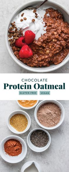 ) – Fit Foodie Finds Say hello to your new favorite breakfast recipe! This Chocolate Sea Salt Protein Oatmeal is as delicious as it is nutritious. Packed with of protein and of fiber, you can't go wrong! Protein Cupcakes, Protein Desserts, Protein Snacks, Protein Dinner, Protein Packed Breakfast, Nutritious Breakfast, Protein Packed Foods, Chocolate Protein Recipes, Protein Bread