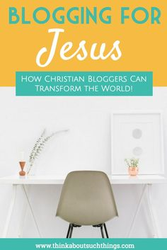 Being a Christian blogger has a serious impact on people's lives. We are messengers of faith, hope, and love on the world wide web. Learn how your blog can impact the world for Jesus!