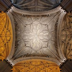 Seville Cathedral's crossing Andalucía Spain.
