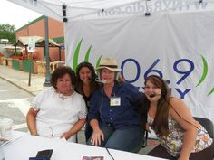 """""""Chamber Matters"""" live from 16th Annual Arts Walk July 19, 2014 from 8:00am-10:00am on all Neversink Media Group Stations! Artists Joan Kehlenbeck and erni girl designs President Erni Ernestina Hewett joined Nelson Page, Charlene Trotter (show co-hosts), Kendra Addy & Reg Osterhoudt (NMG) for a great morning at the event!"""