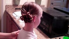 Hair Do {Messy Bun} Perfect for Wet Hair~ Girls Hair Do - Tips from a Typical Mom
