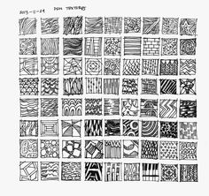 Daily Sketchbooks: Pen and Ink Textures
