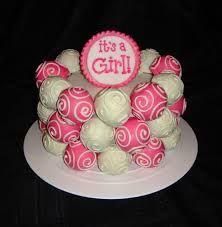 baby shower cakepops for girls - Google Search