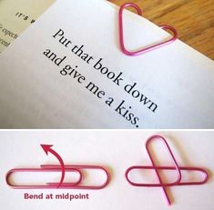 Heart Shaped Paper Clips. - Love It! Just an extra little something on your Loves Valentine Card.  It helps to reenforce its meaning. Simply Adorable, don't you think!