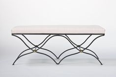 iron two seater bench