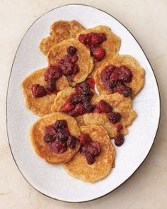 Pecan Pancakes with Mixed Berry Compote Recipe