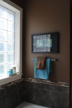 This Brown Is Pretty Dark But I Do Love The Brown And Blue - Blue and brown bathroom sets for small bathroom ideas