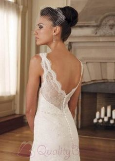 Lace Grace Sheath V-Neck Embroidery Satin Wedding Dress on sale, a perfect V-neck Wedding Dresses with high quality and nice design. Buy it now or discover your V-neck Wedding Dresses Elegant Wedding Dress, Wedding Dress Styles, Wedding Attire, Bridal Gowns, Wedding Gowns, Lace Wedding, Dream Wedding, Backless Wedding, Wedding Bride