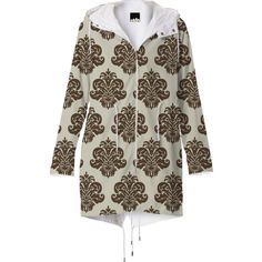 Vintage Damask Raincoat from Print All Over Me