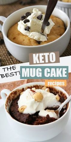 Looking for easy keto? Look no further than this amazing collection of keto mug cakes. Satisfy that sweet tooth in mere minutes. All low carb, sugar-free, and grain-free. And all of them delicious! keto sweets Easy Keto Mug Cake Recipes Mug Recipes, Healthy Recipes, Cake Recipes, Dessert Recipes, Cheese Recipes, Smoothie Recipes, Diet Recipes, Breakfast Recipes, Keto Friendly Desserts