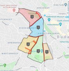 XII. kerület  Várakozási övezetek zónákra osztása Maps, Google, Blue Prints, Map, Cards