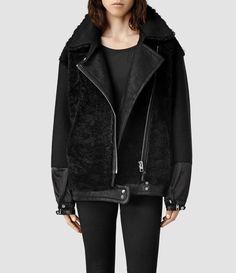 Womens Hainton Jacket (Black) | ALLSAINTS.com