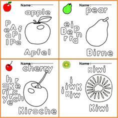 Ausmalbilder für kinder. Finde die Wörter zu den Bildern in ...