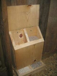 Grit and Oyster shell dispenser.