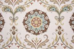 Ideas for medallion wall art - Mill Creek Barossa - Madden Printed Cotton Decorator Fabric in Nordic Ice $23.95 per yard