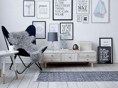 Décoration avec cadres au mur #decoration #style #scandinave