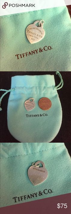 Tiffany Heart Charm Pretty Good Condition w/pouch Tiffany Heart Charm Pretty Good Condition w/pouch AUTHENTIC can be worn on bracelet or necklace Tiffany & Co. Jewelry