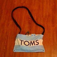 Toms shoe bag as a purse!! sweet