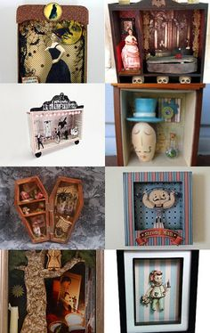 Jump Into A Story! Shadow Box Art In All It's Glory!  --Pinned with TreasuryPin.com