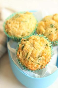 Spinach Cheesy Muffins - tasty savory muffins great for lunch boxes, snacks or breakfasts on the go! Healthy Toddler Meals, Kids Meals, Baby Meals, Snacks Kids, Toddler Food, School Snacks, School Lunch, Pina Colada, Spinach Muffins
