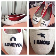 STAR WARS Wedding I love you I know white by CrystalCleatss