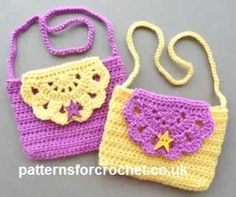 Make a little girl happy with this quick little stash buster, crocheted kids handbag pattern.