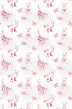 Jemima Pink fabric by Clarke & Clarke