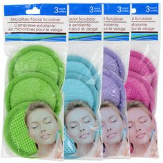 Take care of your skin with spa-like luxury! round facial scrubbers are soft microfiber on one side and have a gentle net scrubber on the other — great for removing makeup, cleansing you Spa Birthday Parties, Spa Party, Teen Parties, Glow Party, Teen Birthday, It Cosmetics Brushes, Cosmetic Brushes, Makeup Brushes, Products