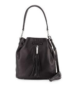 V2ECL Elizabeth and James Cynnie Lamb Tassel Mini Bucket Bag, Black