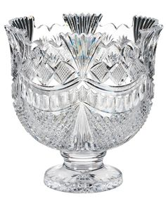 House of Waterford Serveware John Connolly Pallas Crystal Punch Bowl - Serveware - Ideas of Serveware - House of Waterford Serveware John Connolly Pallas Crystal Punch Bowl Waterford Crystal, Crystal Glassware, Crystal Vase, Cut Glass, Glass Art, Etched Glass, Clear Glass, Crystal Collection, Antique Glass