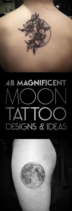** forty eight Magnificent Moon Tattoo Designs & Concepts - TattooBlend