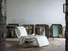 LUNA Chaiselongue aus Leder by Minimomassimo