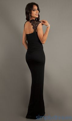 Dress, Floor Length Black Ruched Dress - Simply Dresses