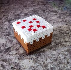 Minecraft inspired cake, minecraft perler sprite on Etsy, $6.00
