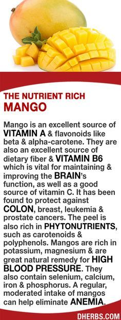 Mango is an excellent source of Vitamin A, flavonoids, dietary fiber  vitamin B6 which maintains  improves brain function. May help protect against colon, breast, leukemia  prostate cancers. The peel is rich in phytonutrients like carotenoids  polyphenols. The fruit is rich in potassium, magnesium  great for high blood pressure. Selenium, calcium, iron regularly can help eliminate anemia. #dherbs