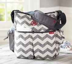 Gray Chevron Skip Hop Duo Diaper Bag | Pottery Barn Kids