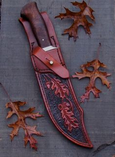 Custom Knife with a Custom leather sheath