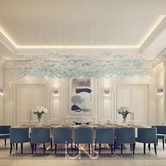 Private palace interior design | dining room design #الدوحه #doha #qatar…