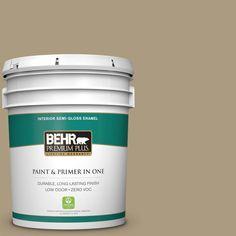 BEHR Premium Plus 5-gal. #bnc-16 Winter Sage Semi-Gloss Enamel Interior Paint