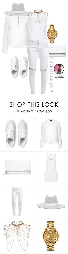 """Untitled #2884"" by stylebydnicole ❤ liked on Polyvore featuring adidas Originals, Topshop, Clare V., Helmut Lang, FiveUnits, Janessa Leone, Erickson Beamon and Versus"